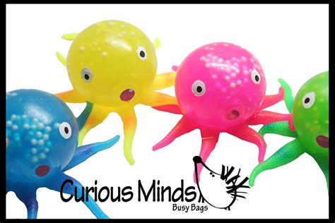 Finget Squishy Octopus occupational therapy aids curious minds busy bags