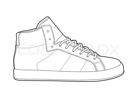 Adidas Shoe Template by Outline Shoes Stock Vector Colourbox