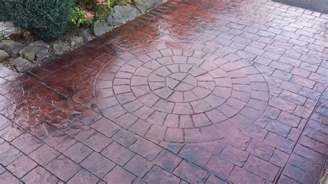 what is pattern imprinted concrete cobble styles pattern imprinted concrete driveways wigan