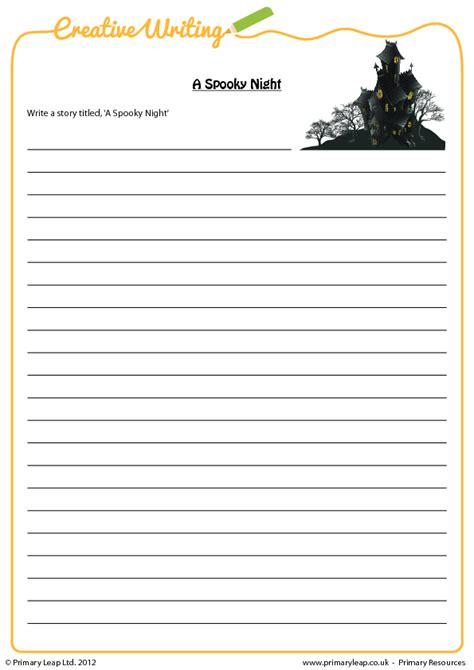 ideas for ks2 creative writing 119 free october worksheets for your esl classes