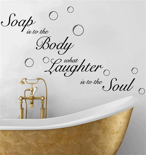 decals for bathroom soap soak bubbles bathroom quote toilet wall sticker decal