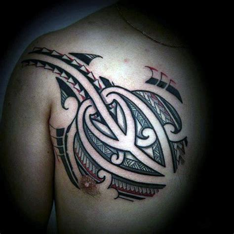 polynesian tattoo inspiration 50 polynesian chest tattoo designs for men tribal ideas