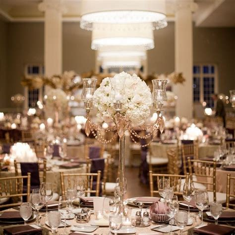 Pin by The Knot on Centerpieces   Gold wedding decorations