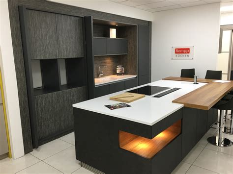 ex display rempp kitchen island and silestone worktops the used kitchen company
