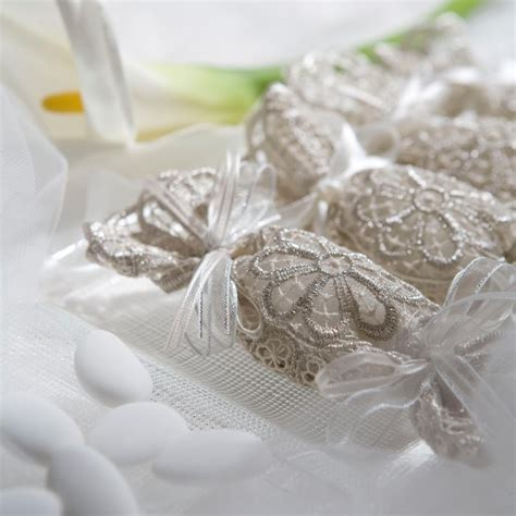 italian wedding favors fancy wedding favors italian lace doily wraps five almonds signifing five wishes