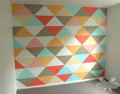 triangle pattern on wall geometric monogram letter the crafty blog stalker