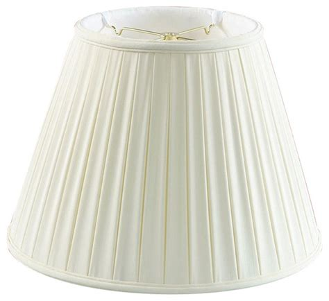 empire pleated l shades eggshell empire box pleat l shade 8x14x11 traditional