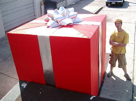 sears commercial oversized gift box tom tamon flickr