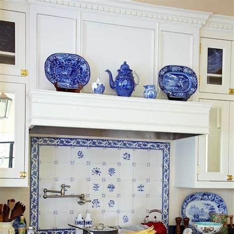 blue and white tile backsplash 46 best blue white tiled kitchen images on pinterest