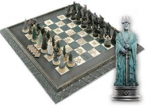 Fantasy Chess Set lord of the rings chess sci fi amp fantasy eaglemoss