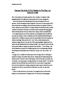 Inspector Calls Essay by Mrs Birling An Inspector Calls Essay Writefiction581 Web Fc2