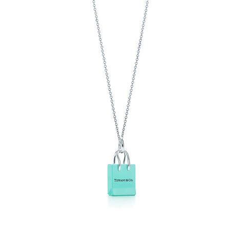 Shopping Charm Necklace by Co 174 Shopping Bag Charm With Enamel Finish In