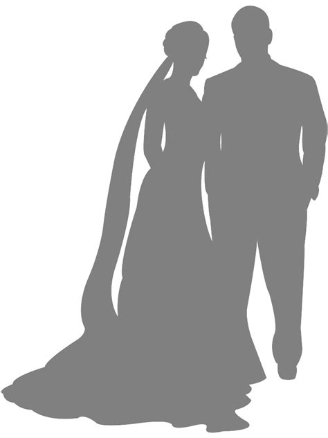 Wedding Siluet by Wedding Silhouette Free Vector Silhouettes