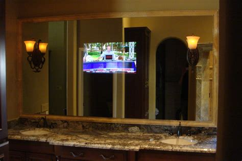 tv behind bathroom mirror bathroom tv behind mirror bathroom trends 2017 2018