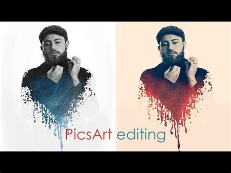 picsart ios tutorial splatter effect picsart easy tutorial heart ink