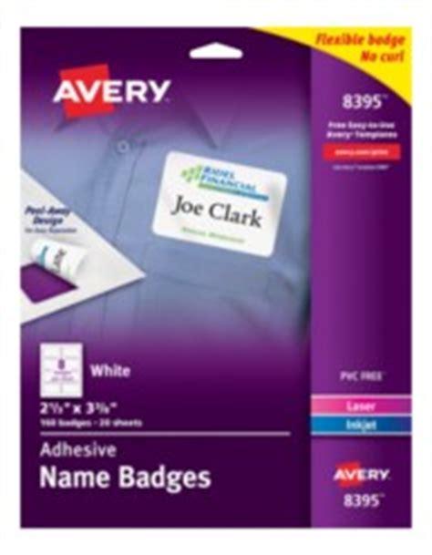 Avery Printable White Adhesive Name Badges Avery White Adhesive Name Badges 8395 Template