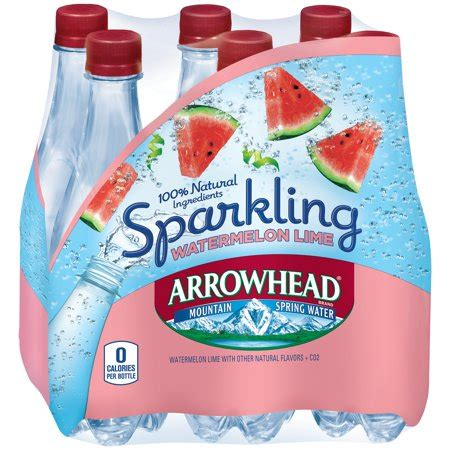 raspberry lime sparkling water mountain 174 brand sparkling water arrowhead brand sparkling mountain water watermelon lime 16 9 ounce plastic bottles