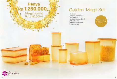 golden mega set tupperware katalog promo tupperware