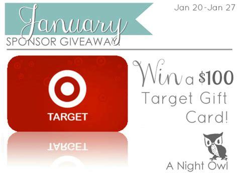 Sponsor Giveaway - january sponsor giveaway 1000 target giveaway