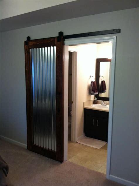 custom built sliding barn door   corrugated metal