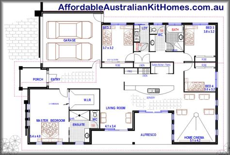 open plan house plans australia modern kit home open plan design 4 bedroom 1 storey home australian kit homes 4