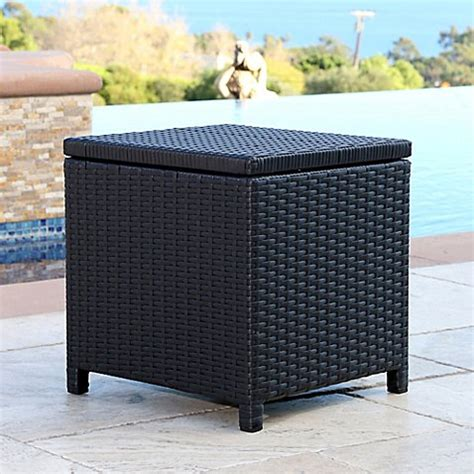 bed bath and beyond carlsbad abbyson living 174 carlsbad outdoor wicker patio storage ottoman bed bath beyond