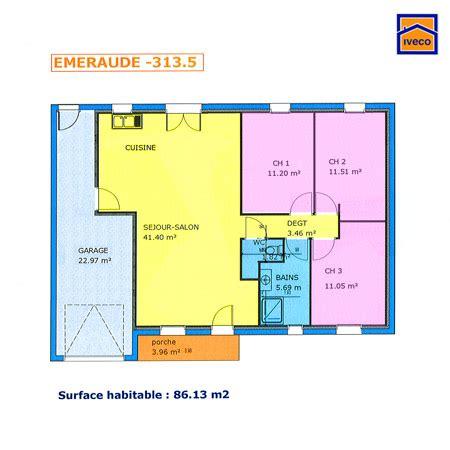 Plan De Maison Plain Pied Gratuit 3147 by Plan Maison 1 Chambre Plain Pied Immobilier Pour Tous