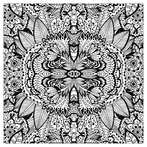 complex coloring pages nature complex flower carpet squared by valeriia lelanina