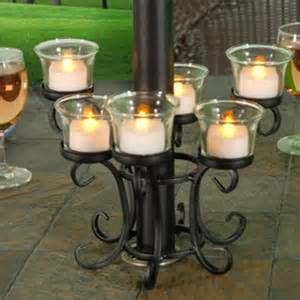 Patio Umbrella Candle Holder Outdoor Umbrella Holder Rainwear