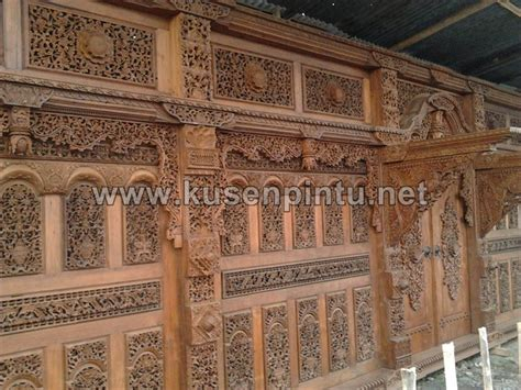 Kusen Pintu Model Gebyog Antik Jati Jepara contoh kusen pintu gebyok ukiran jepara panjang 12 meter