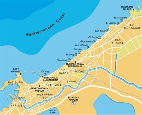 alexandria map alexandria tourist destinations