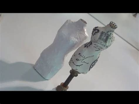 How To Make A Mannequin Out Of Paper Mache - diy paper mache dressform tutorial
