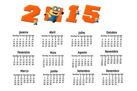 Calendã Do Ano De 2015 Ba 250 Da Web Calend 225 2015 Para Imprimir