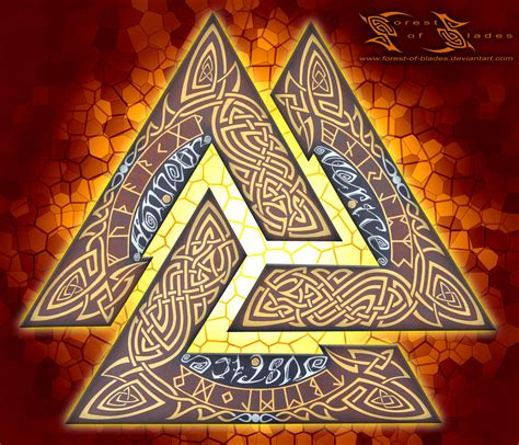 mula bandha the valknut lock by forest of blades on