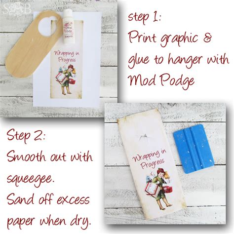 Door Hanger Paper by Do Not Disturb I M Wrapping Shabby Boutique