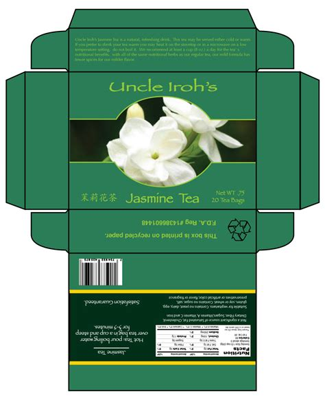 tea box this is a package design for a tea box that was