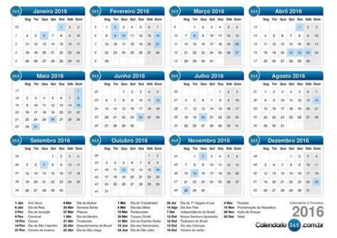 Calendario N Semanas Maioria Dos Feriados De 2016 Cair 225 Durante A Semana Veja