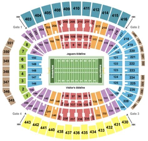 jaguars tickets seating chart how much do you pay for season tickets and how are they nfl