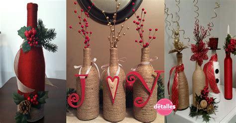 adornos de botella navidad imagenes decoraci 243 n navide 241 a con botellas de vidrio dale detalles