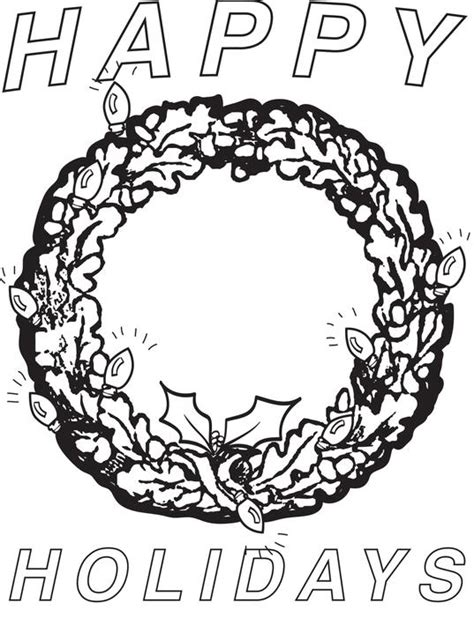 happy holidays coloring pages happy holidays coloring pages coloring home