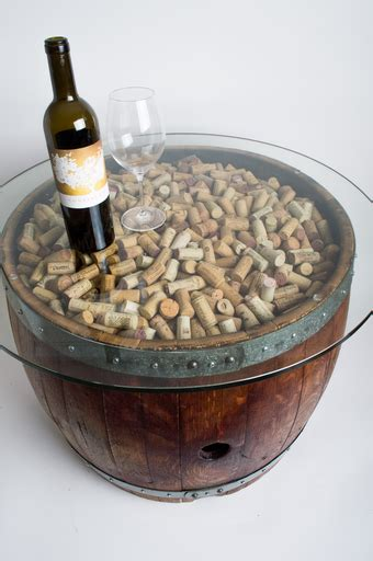 wine barrel table glass top wine barrel coffee table with cork and glass top