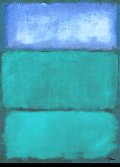 rothko the color field 145215659x saatchi art turquoise blue homage to rothko painting by