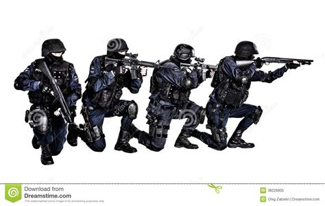 Swat White swat team in royalty free stock photo image 38226805