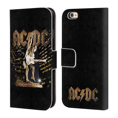 Termurah Pouch Leather Official Logo Iphone 7 6 6s official ac dc acdc album leather book wallet for