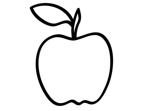 coloring page apple outline drawing line drawing painting