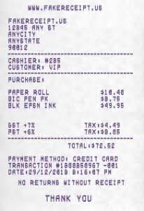5 online fake receipt maker generator tools
