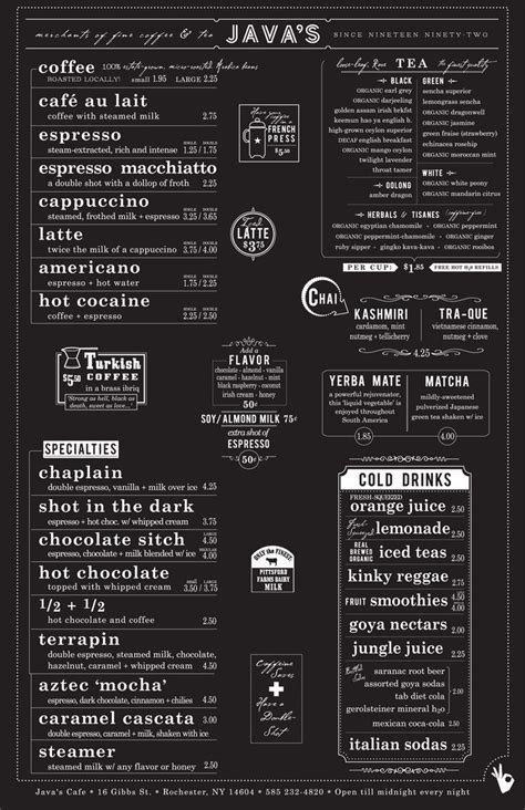 menu layout psychology best 25 cafe menu design ideas on pinterest cafe menu