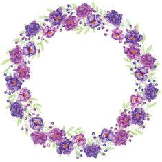 Wallpaper Sticker Motif Lavender Purple Ukuran 45 Cm X 10 Meter circle of lavender flowers vector by lidiebug on vectorstock 174 frames and borders