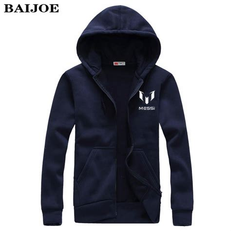 Sweater Hoodie Barcelona Terbaru 69 A52 baijoe barcelona messi print cardigan hoodies brand clothing fashion hoodies casual slim