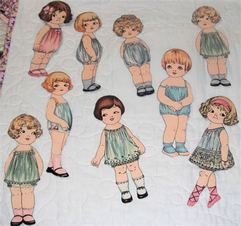 How To Make Fabric Paper Dolls - make a set of fabric paper dolls windham dolls by sheryl